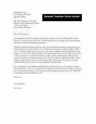 Teacher Cover Letter Teacher Cover Letter Elegant Application For Teaching Job Pdf Of 16