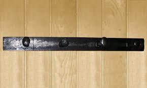 wrought iron railroad spike coat rack 4 hook jpg
