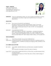 San Administration Sample Resume Mesmerizing Impressive Sample Resume For Fresh Graduates In High School Also