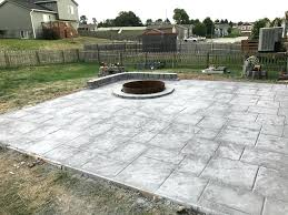 stamped concrete patio with fire pit cost. Colored Concrete Patio Stamped Fire Pit Sitting Wall Water Drainage Retaining . With Cost