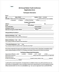 student conference form 21 conference registration forms