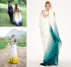 ombre and dip dye wedding dresses fly away bride