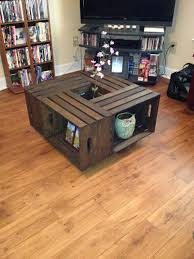 apple crate coffee table diy decor and projects