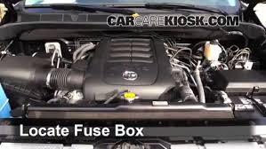 replace a fuse 2014 2016 toyota tundra 2015 toyota tundra locate engine fuse box and remove cover