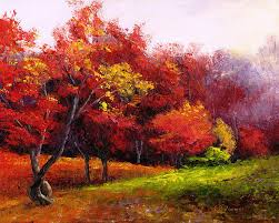 arnold arboretum painting autumn in red arnold arboretum jamaica plain ma by