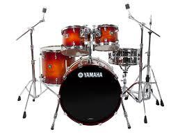 yamaha oak custom. yamaha oak custom 5-piece drum kit - amber sunburst long \u0026 mcquade musical instruments