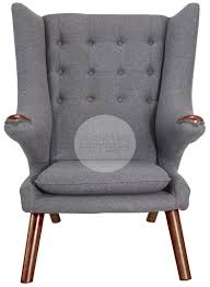 papa bear chair. Papa Bear Chair \u0026 Ottoman Hans Wegner Replica Front