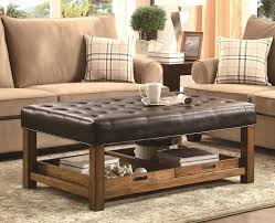 Image Storage Ottoman Foter Leather Tufted Ottoman Coffee Table Ideas On Foter