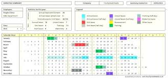 Free Employee Vacation Tracker Template Best Of Attendance
