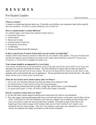 Leadership Resume Template Ownforum Org