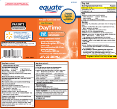 Daytime Cold And Flu Non Drowsy Liquid Equate Walmart