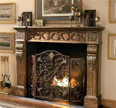 decorative fireplace screens lovely decorative fireplace screens and spark guard curtains custom wrought iron fireplace screens
