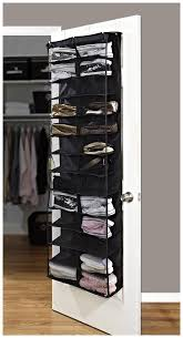 ... Rack, Simplify 26 Pocket Hanging Over The Door Shoe Rack Organizer  Ideas Design: Cool ...