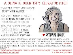 what s your climate change elevator pitch institute