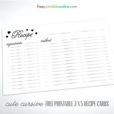 avery 3x5 recipe card template free cute cursive 3 x 5 cards to print knowledge for