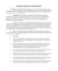 Service Agreement Samples Standard Service Contract Template