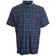Ben Sherman Mens Kingsize 53093 Check Short Sleeve Shirt
