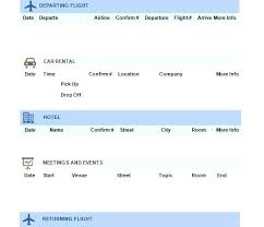 Word Travel Itinerary Template Microsoft Itinerary Template Latest Travel Itinerary