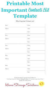Contact List Template Free Business Printable Phone For Word