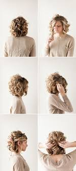 Easy Hairstyles On The Go 25 Best Ideas About Curly Updo Hairstyles On Pinterest Curly