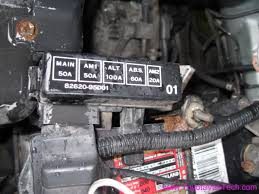 battery fuse box a fuse box for a non abs previa or not have internal conductors for the abs fuse so even if the fuse is there it not be hooked up
