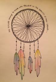 Home Made Dream Catcher Drawn dreamcatcher easy Pencil and in color drawn dreamcatcher easy 91