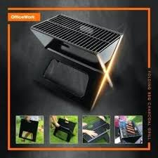 clearance grill outdoor portable charcoal barbecue folding x picnic foldable wolfwise bbq stainless steel bar
