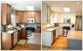 painting oak kitchen cabinets whitePainted Oak Kitchen Cabinets Before And After  Nrtradiantcom