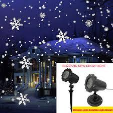 Snowfall Blizzard Led String Light Christmas Lights Waterproof Led Laser Snowflake Projector