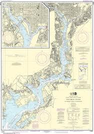 Noaa Nautical Chart 12289 Potomac River Mattawoman Creek To Georgetown Washington Harbor
