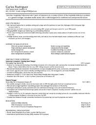Resume Objective Examples For Hospitality Examples Of Resumes