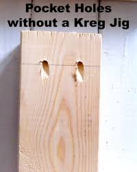 Kreg Jig Different Thickness How To Make Pocket Holes Without A Kreg Jig House Diy