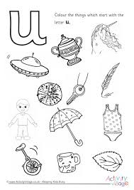 start with the letter u colouring page 460 2