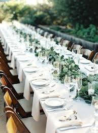 elegant wedding table setting ideas with greenery garland round for home full size