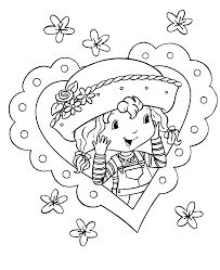 B Strawberry Shortcake Coloring Pages B