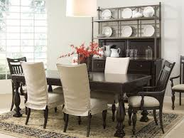 classical sure fit white linen dining room chair