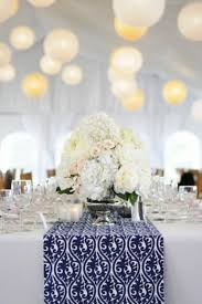 and silver wedding table decorations