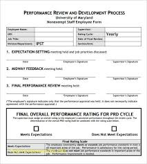 Performance Management Template Word Inspirational Performance ...