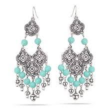 silver crystal chandelier earrings hne88859slotq