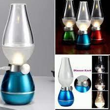 Đèn thờ sạc điện, đèn bàn thờ sạc điện, đèn thần cảm biến thổi là bật tắt