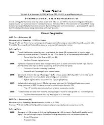 Free Resume Template For Sales Representative Rep Cv Pharmaceutical