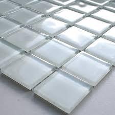 mosaic tiles glass white uni 25x25x4mm