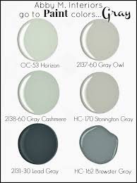 benjamin moore paint colors grayAbby Manchesky Interiors My Go To Paint ColorsGray