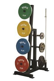 york barbell. york barbell 69142 single-sided bumper plate tree u