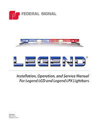 installation, operation, and service manual for manualzz com Federal Signal SignalMaster Wiring-Diagram at Federal Signal Discrete Lpx Wiring Diagram
