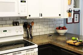 Large Tile Kitchen Backsplash How To Install A Subway Tile Kitchen Backsplash