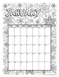 Printable Coloring Calendar For 2019 And 2018 Coloring Pages