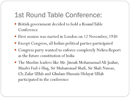1st round table conference