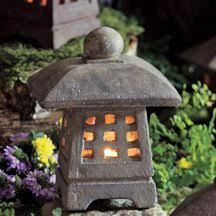 japanese garden lighting. Cute Decorative Piece For Lighting In Yard. Small Japanese Stone Garden Lantern Will Brighten Your Deck Or Path. Holds A Tealight Votive Candle.