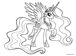 My Little Pony Coloring Pages Free Throughout Pdf Viettiinfo
